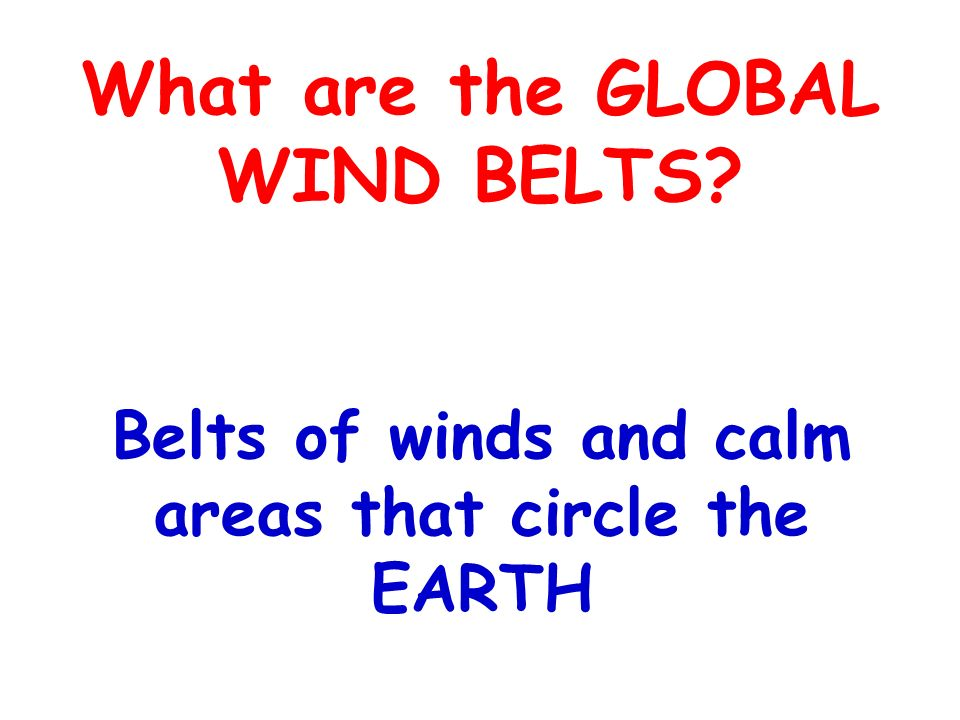 What are the GLOBAL WIND BELTS