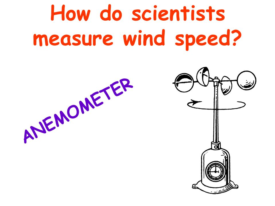 How do scientists measure wind speed