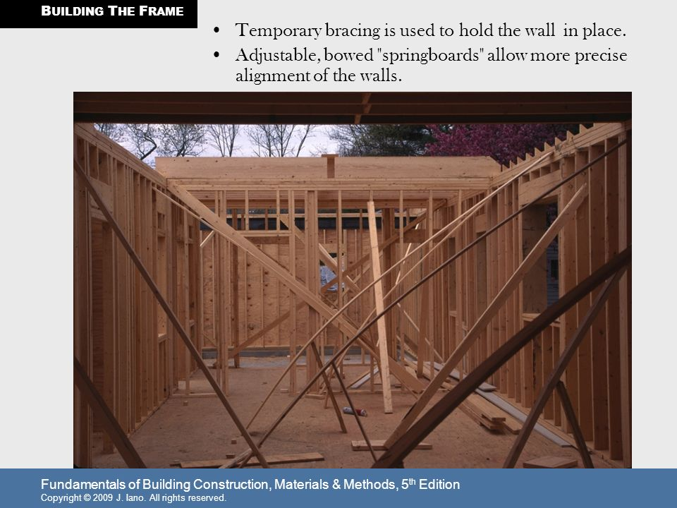 Temporary Walls Construction : Building the frame walls are constructed in sections
