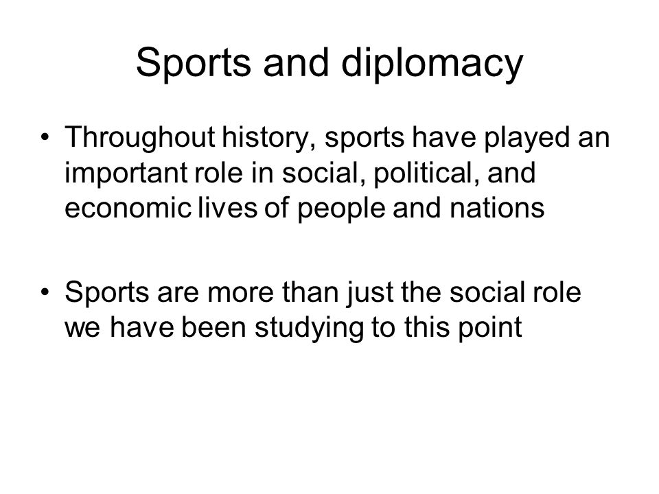 the social role of sports Our research suggests that cultural values, the social role of sports, and the sport traditions play important roles in the legitimization process thus, sports consumption practices enable fans to link to cultural values and meaningful social relations by acquiring and maintaining this sports fandom.