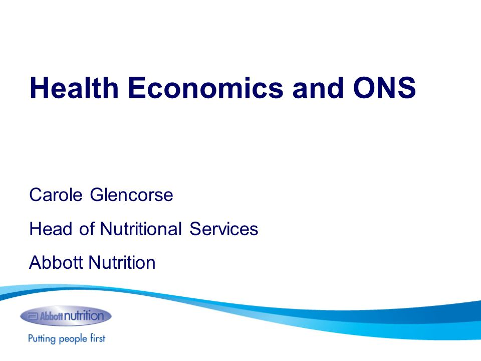 Health Economics and ONS