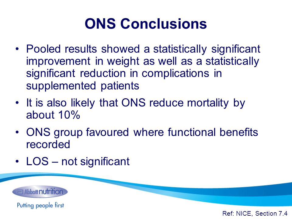 ONS Conclusions