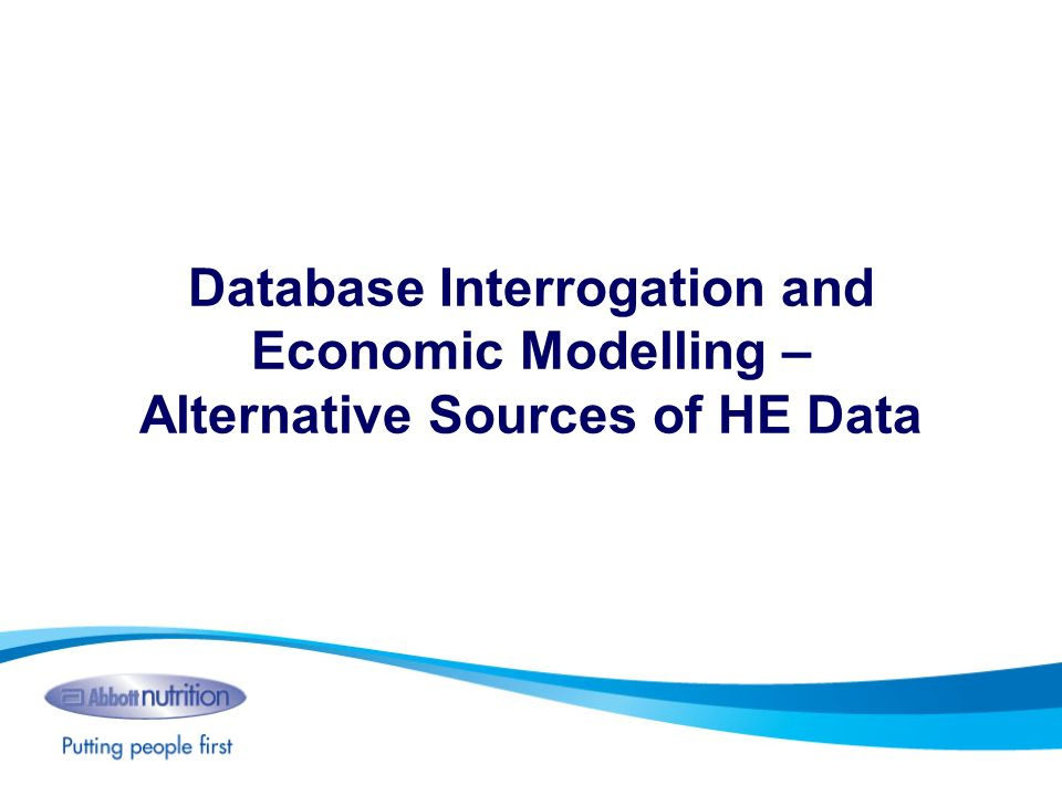 Database Interrogation and Economic Modelling – Alternative Sources of HE Data