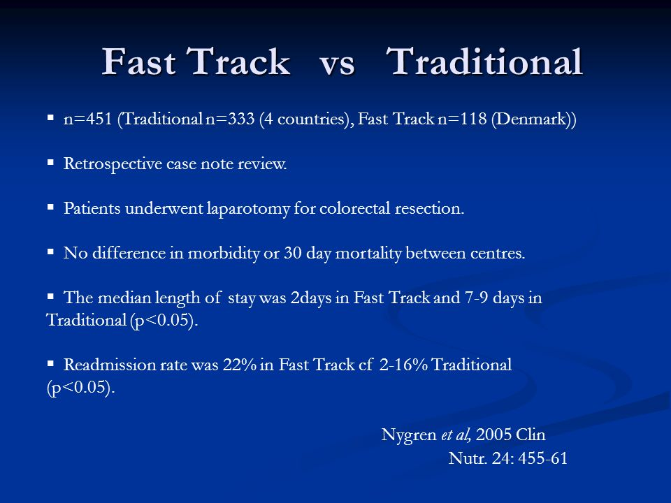 Fast Track vs Traditional