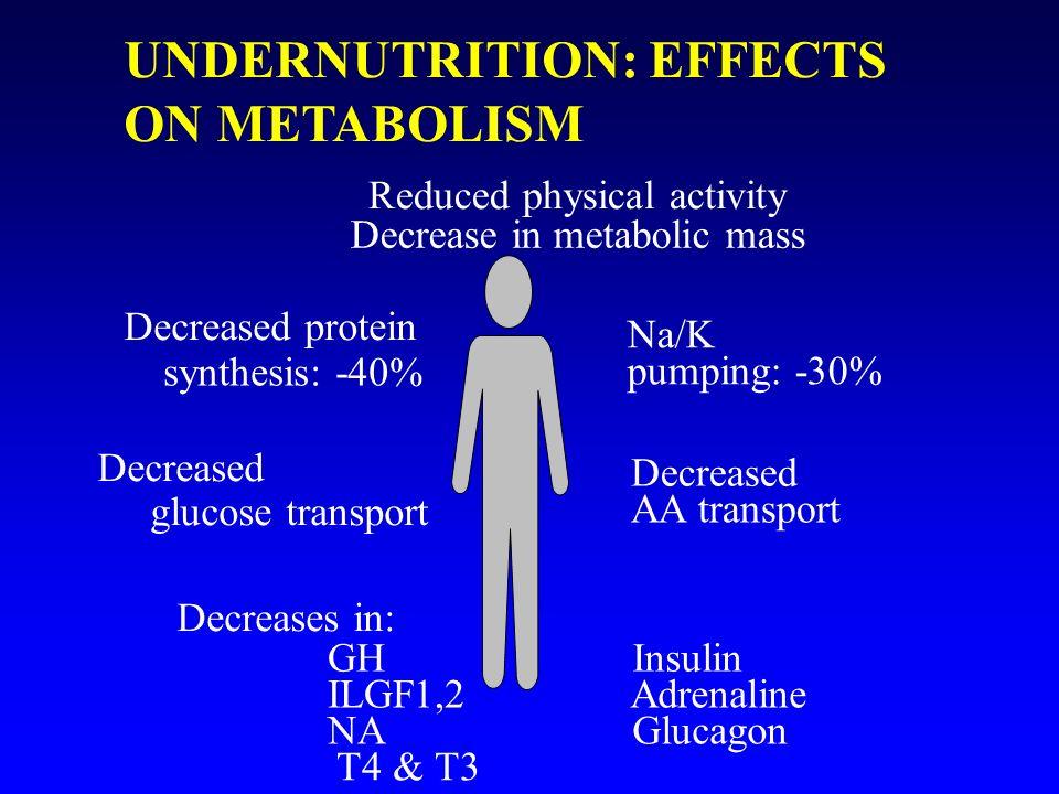 UNDERNUTRITION: EFFECTS ON METABOLISM