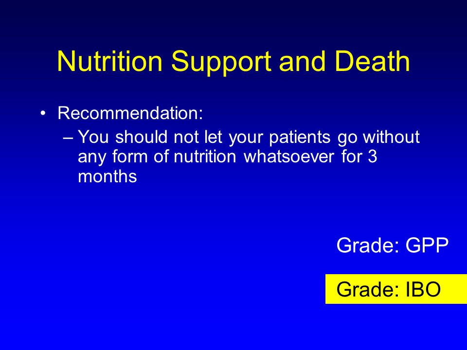 Nutrition Support and Death