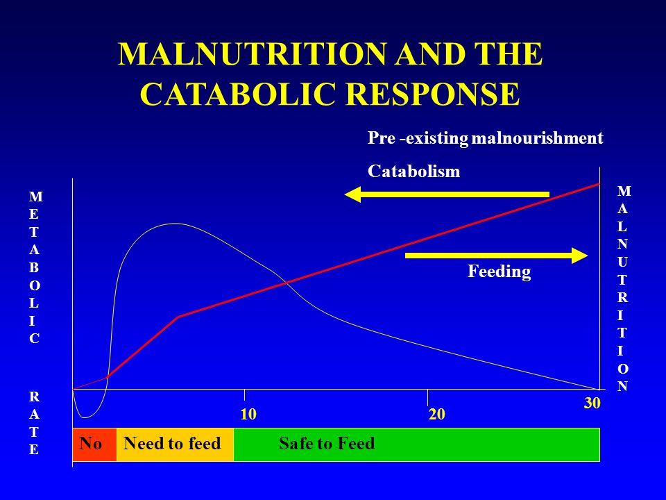 MALNUTRITION AND THE CATABOLIC RESPONSE
