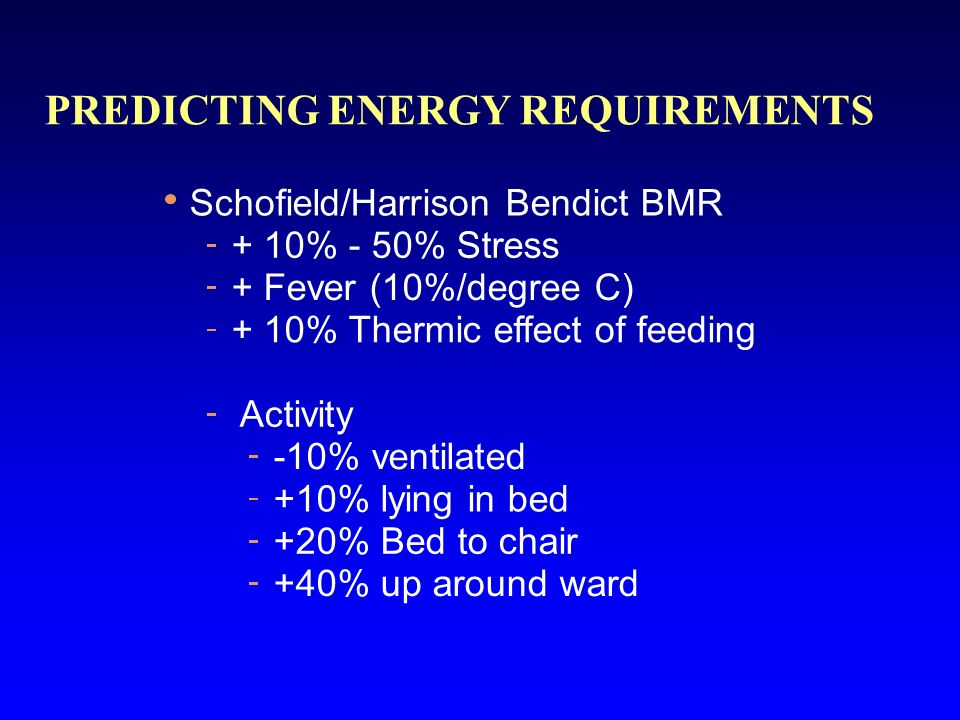 PREDICTING ENERGY REQUIREMENTS