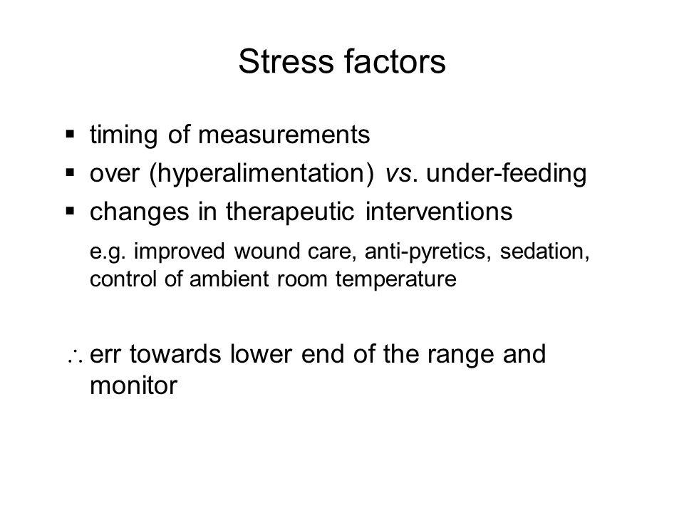 Stress factors timing of measurements