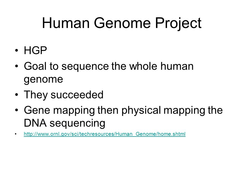 the human genome project hgp and