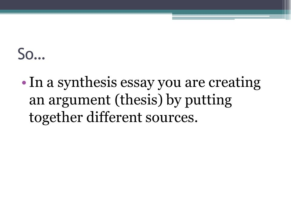 synthesis argument essay outline