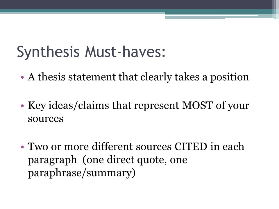 thesis counter thesis and synthesis Check out our top free essays on thesis antithesis synthesis essay death penalty by omitting relevant counter evidence to her thesis and over exaggerating.