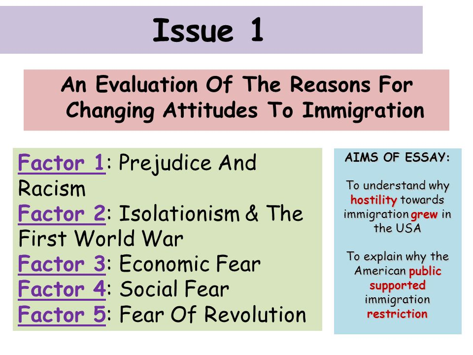 the reasons for the change in the attitude toward the american economy in the 1920s 3 issue 1: an evaluation of the reasons for changing attitudes towards immigration in the 1920s a background a nation of minorities the usa is often referred to as.
