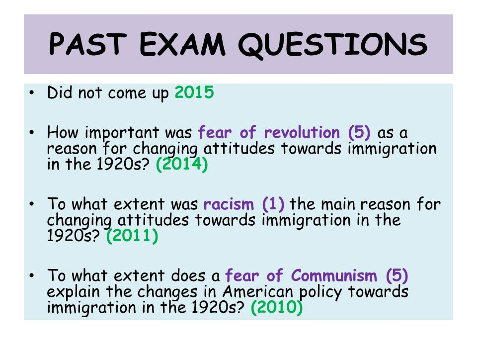 Essay on fears of examination