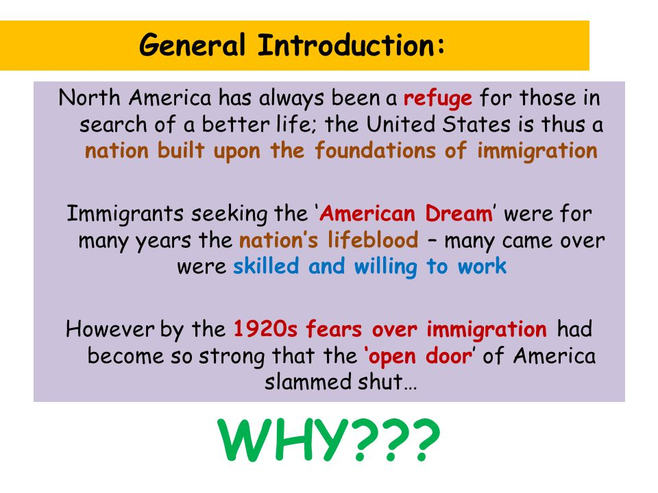 "an analysis of an essay in a nation of immigrants in the united states Senior essay | plsc 221 us  d critique of the majority analysis 1  a nation of immigrants the united states prides itself on being a ""nation of immigrants."
