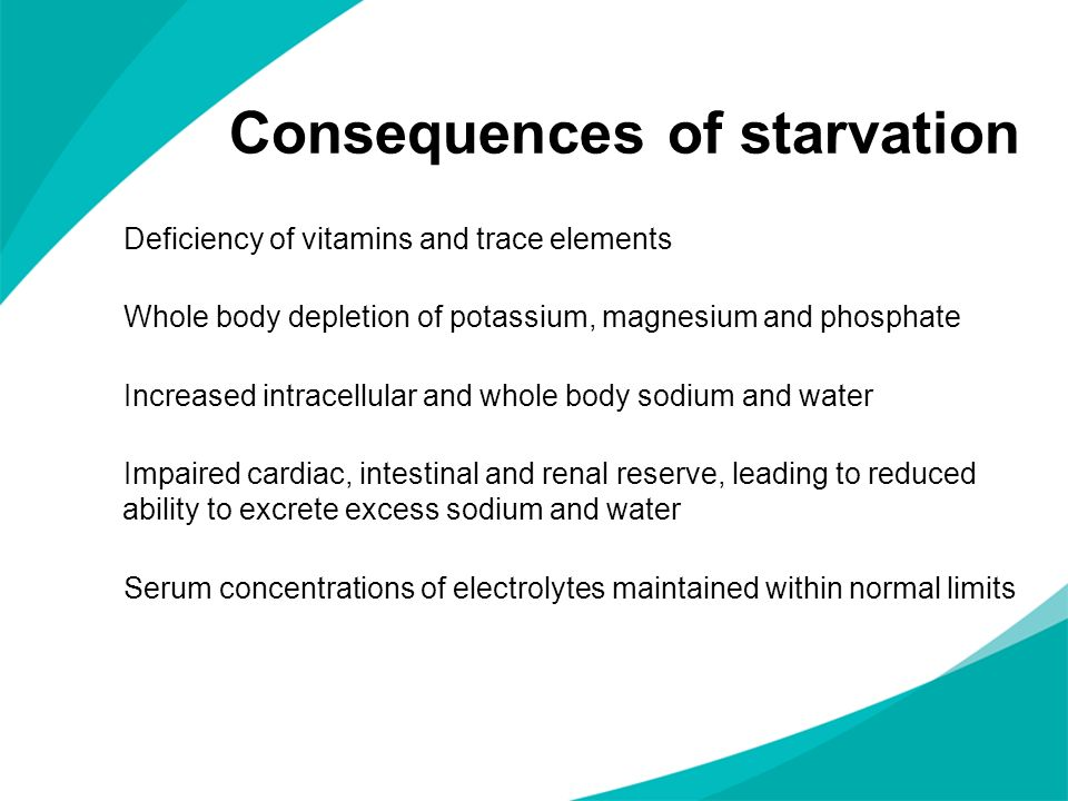 Consequences of starvation