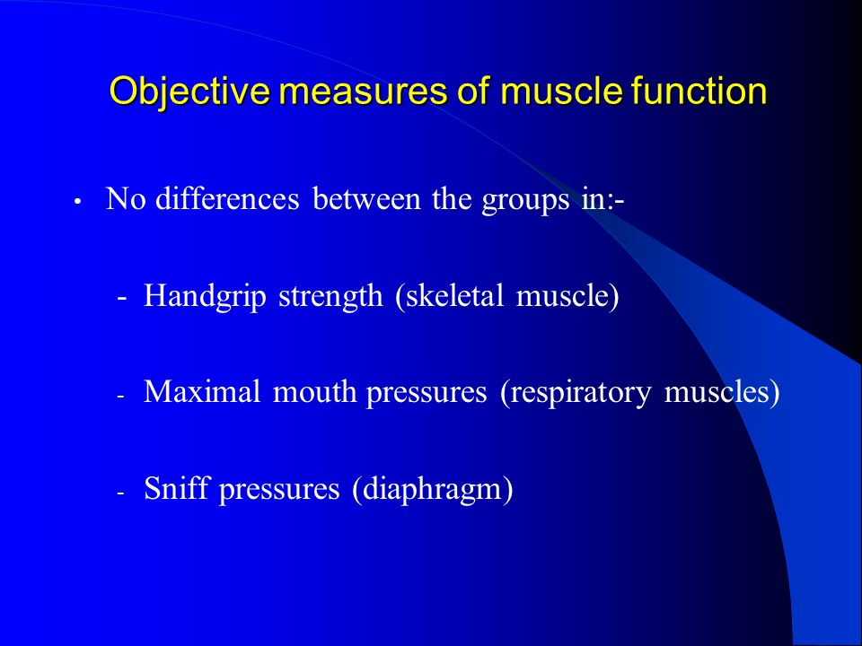 Objective measures of muscle function