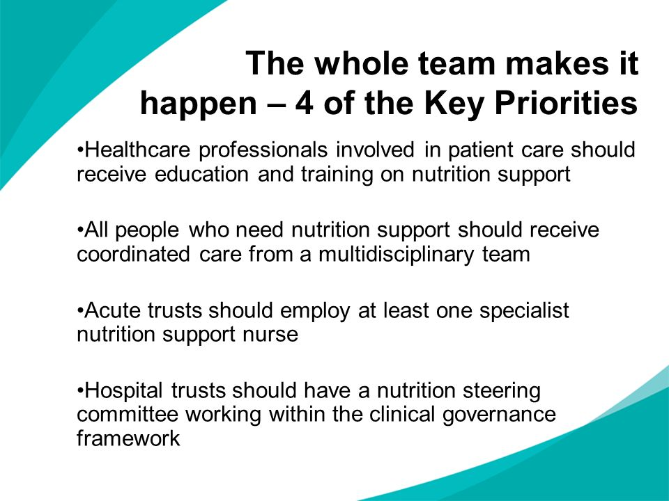 The whole team makes it happen – 4 of the Key Priorities