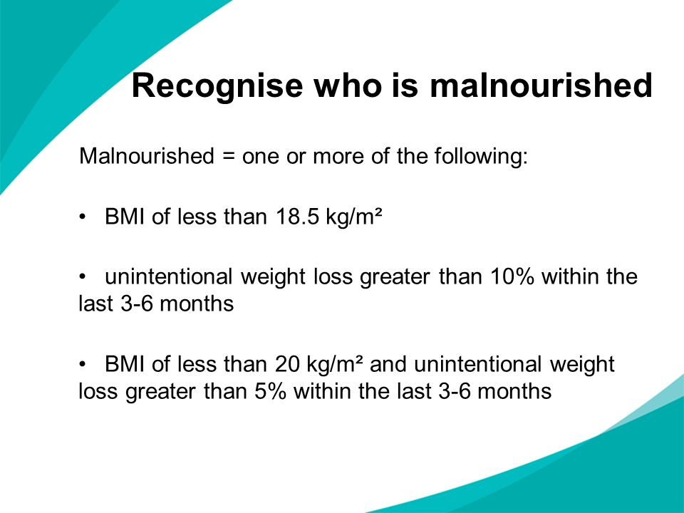 Recognise who is malnourished
