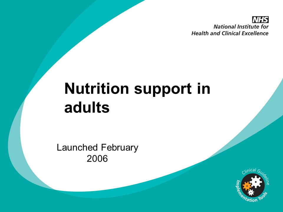 Nutrition support in adults