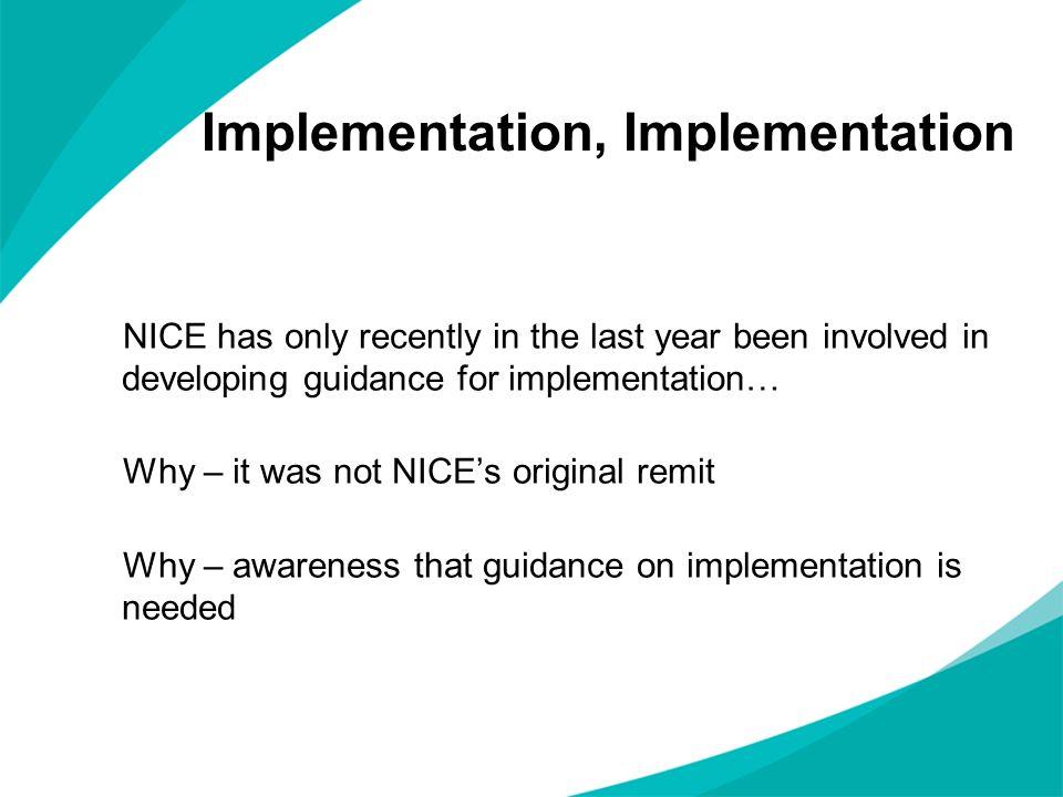 Implementation, Implementation
