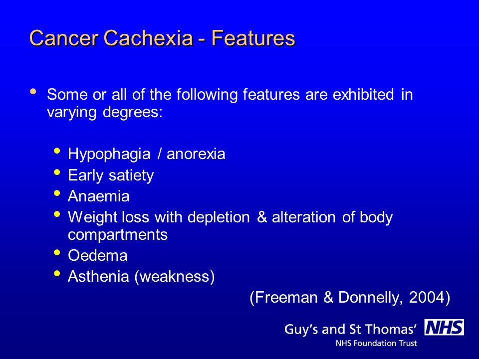 Cancer Cachexia - Features