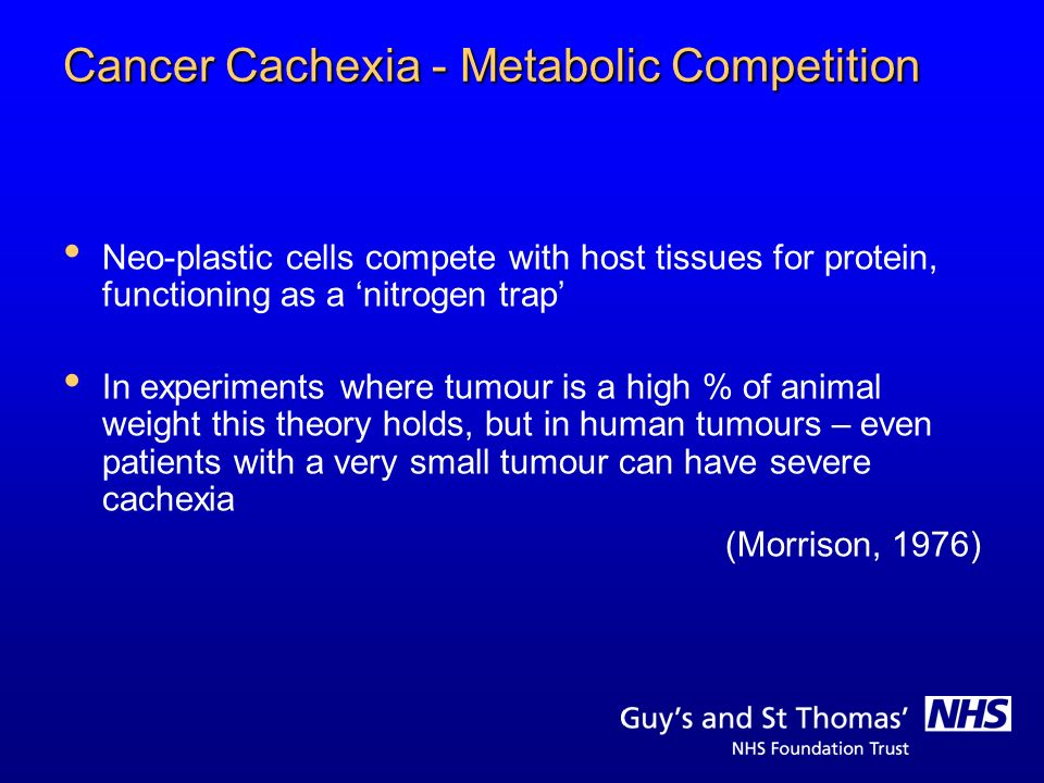 Cancer Cachexia - Metabolic Competition