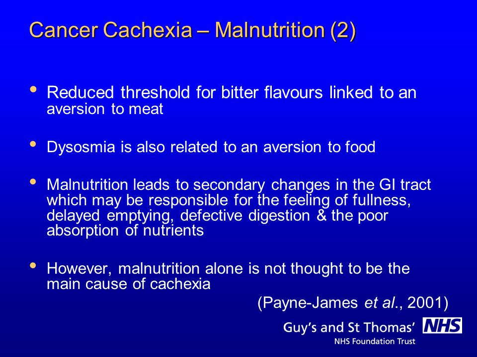 Cancer Cachexia – Malnutrition (2)