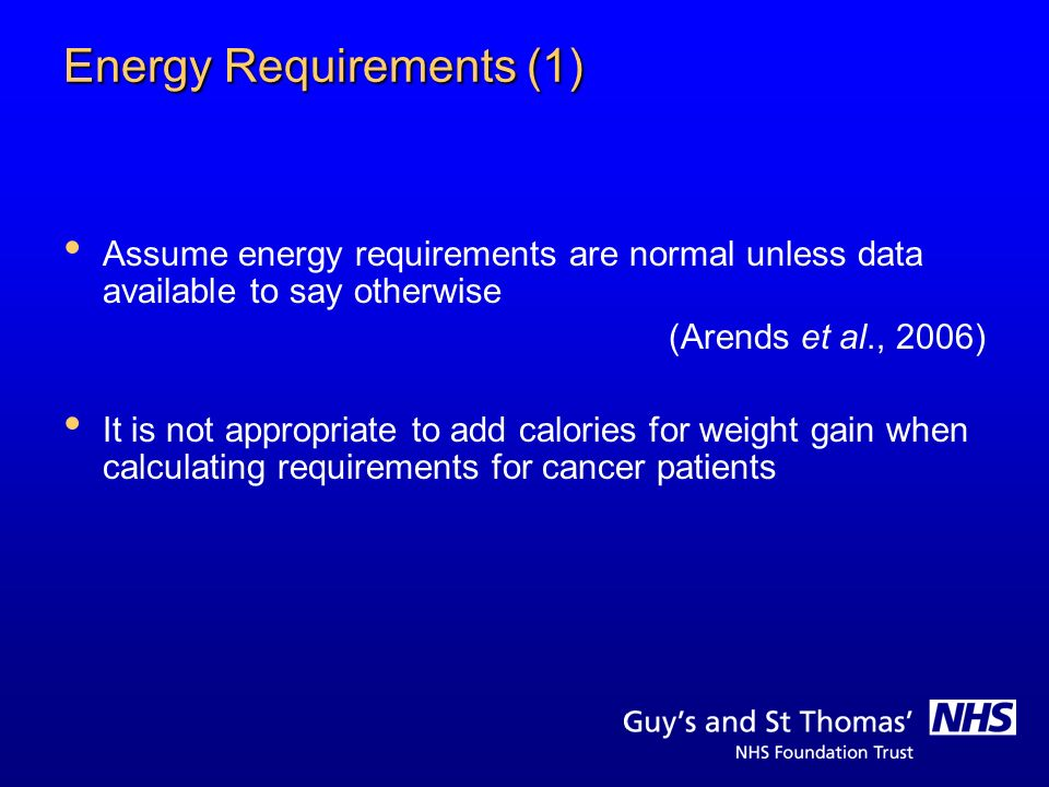 Energy Requirements (1)