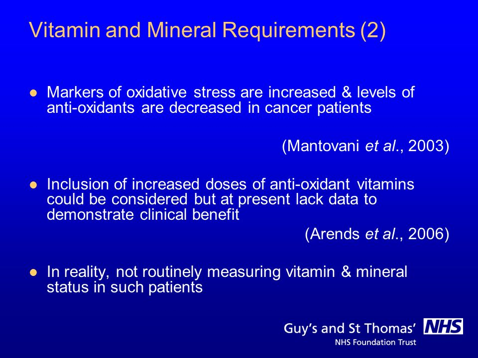 Vitamin and Mineral Requirements (2)