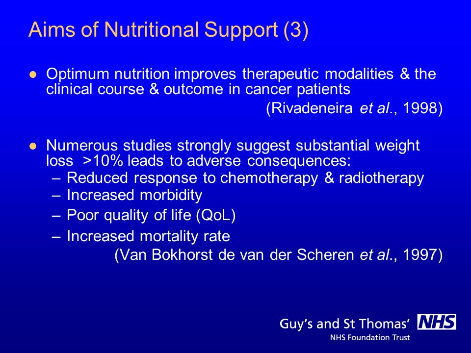 Aims of Nutritional Support (3)