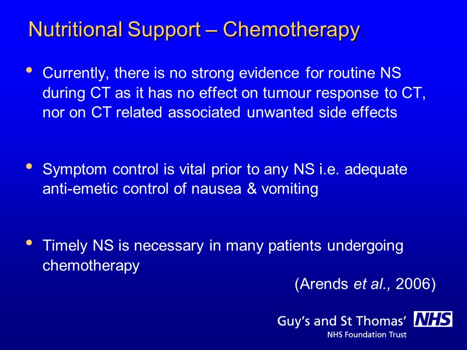 Nutritional Support – Chemotherapy