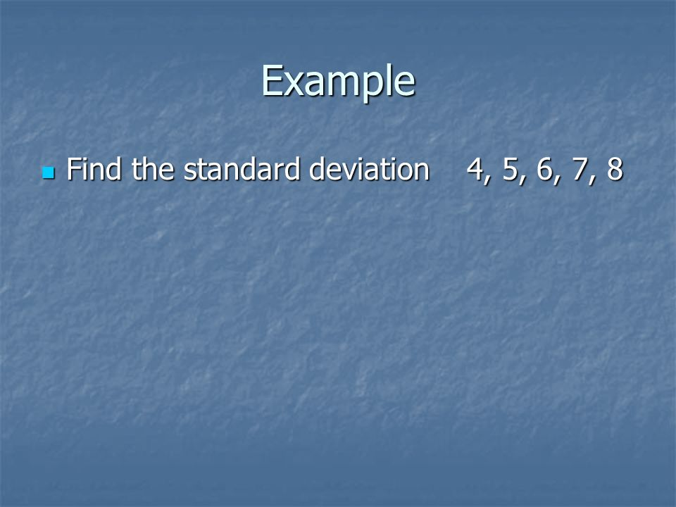 how to find sample deviation