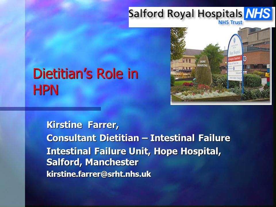 Dietitian's Role in HPN