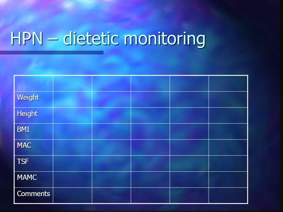 HPN – dietetic monitoring