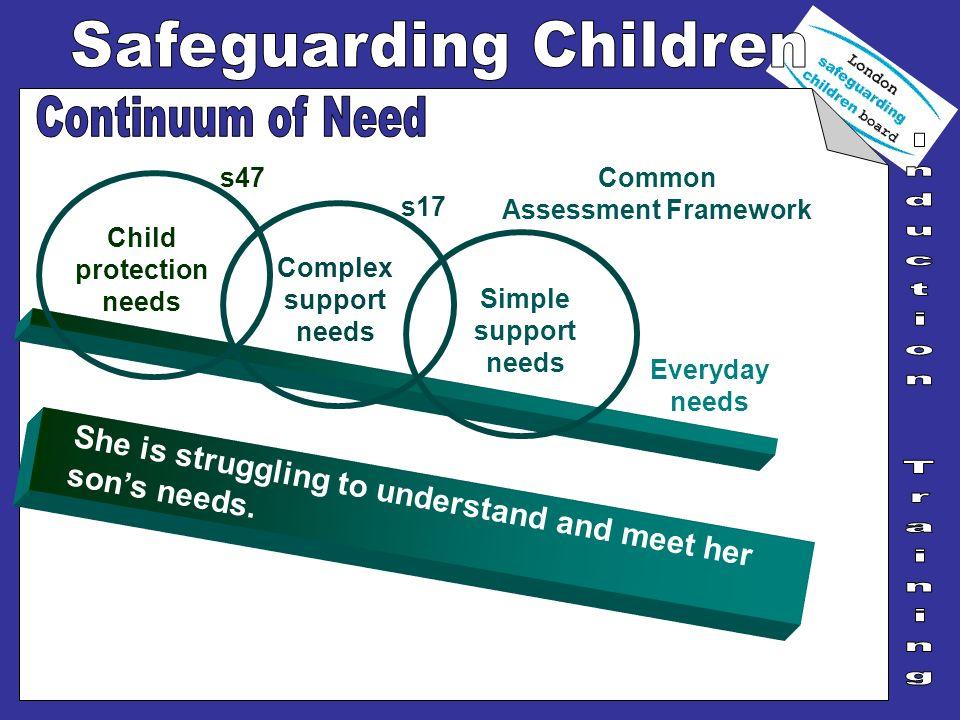 Child protection needs Common Assessment Framework