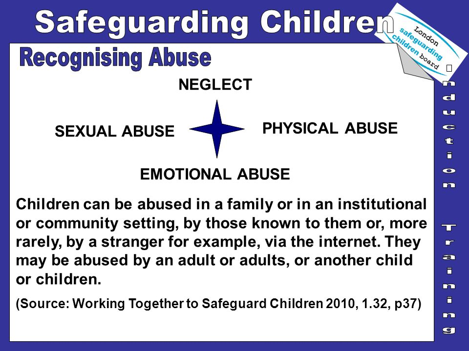 Recognising Abuse NEGLECT PHYSICAL ABUSE SEXUAL ABUSE EMOTIONAL ABUSE