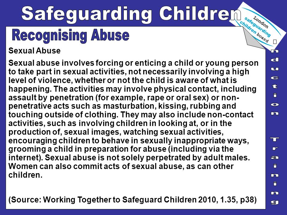Recognising Abuse Sexual Abuse