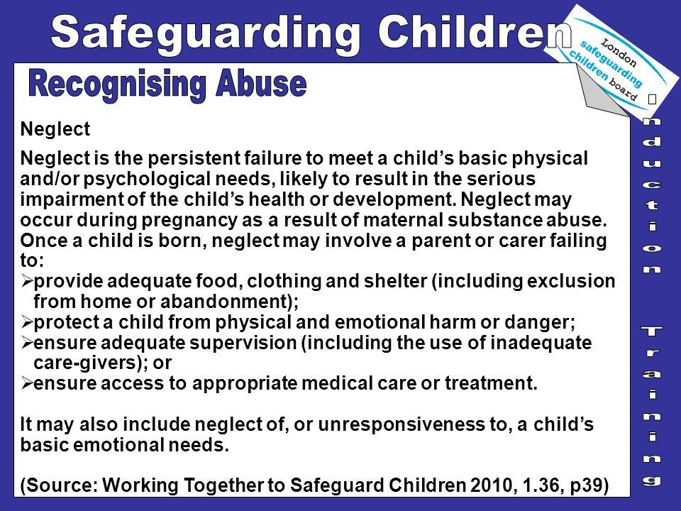 Recognising Abuse Neglect