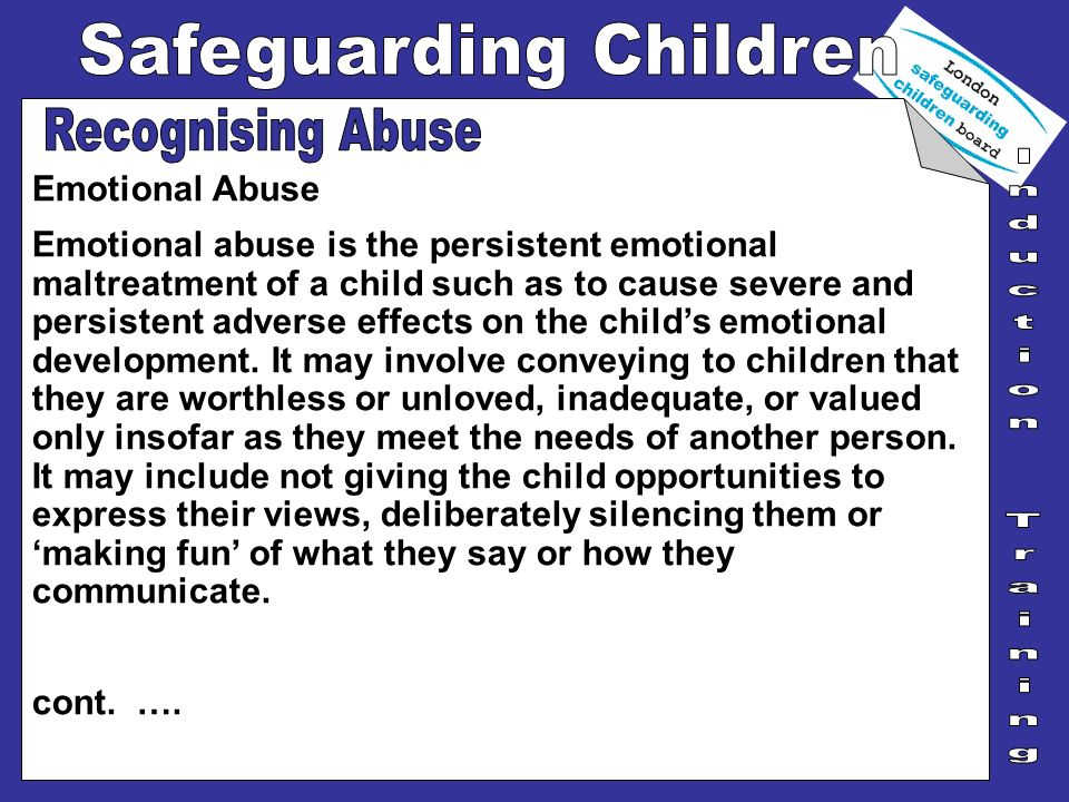 Recognising Abuse Emotional Abuse