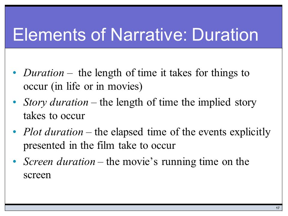 essential elements of narrative essays