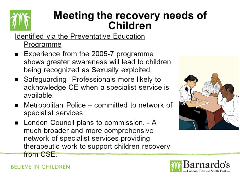 Meeting the recovery needs of Children