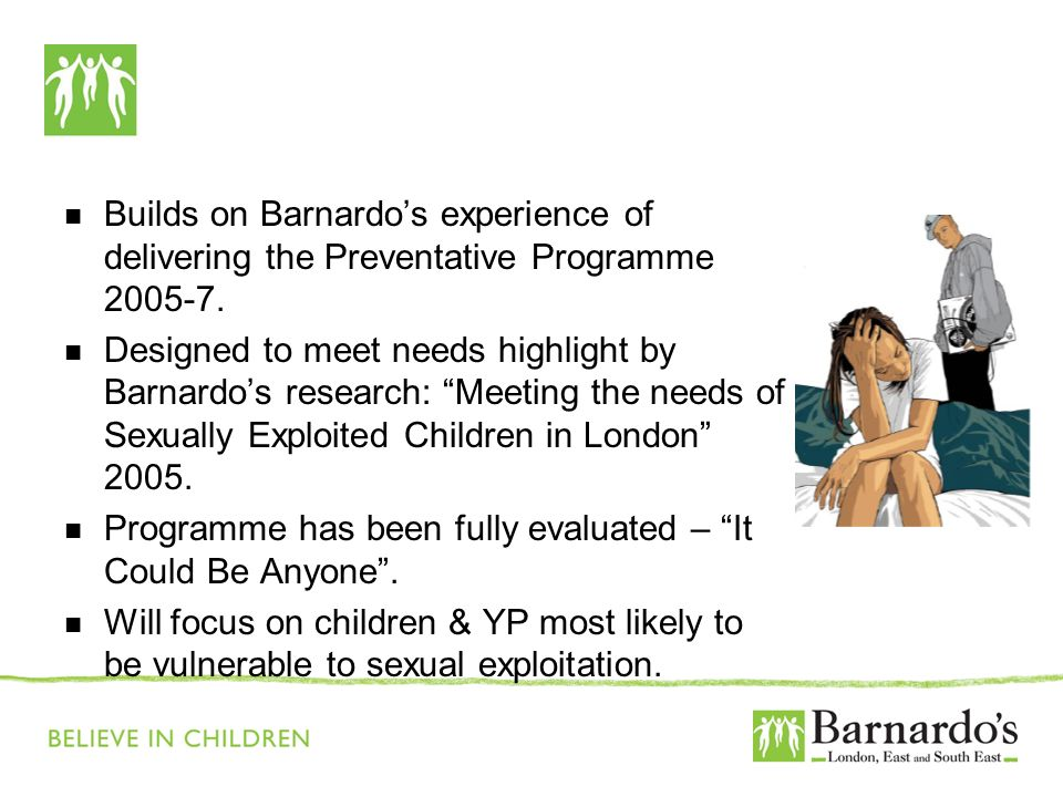 Barnardo's Core Presentation Slide No. 3