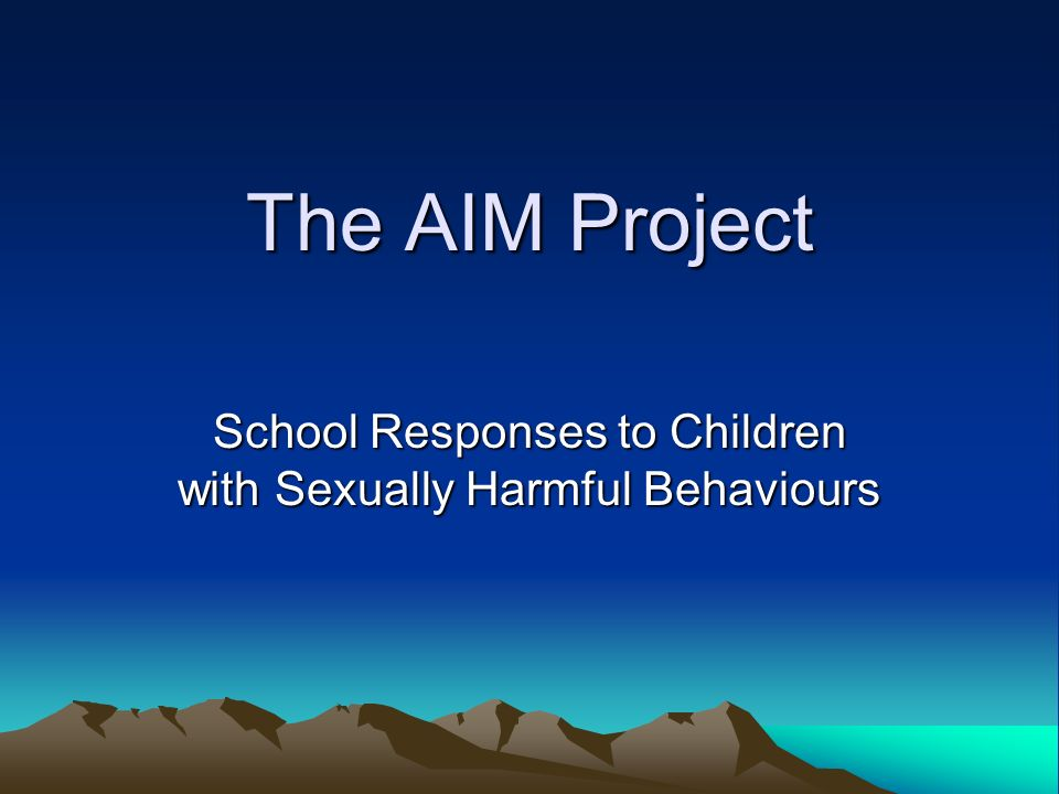 School Responses to Children with Sexually Harmful Behaviours