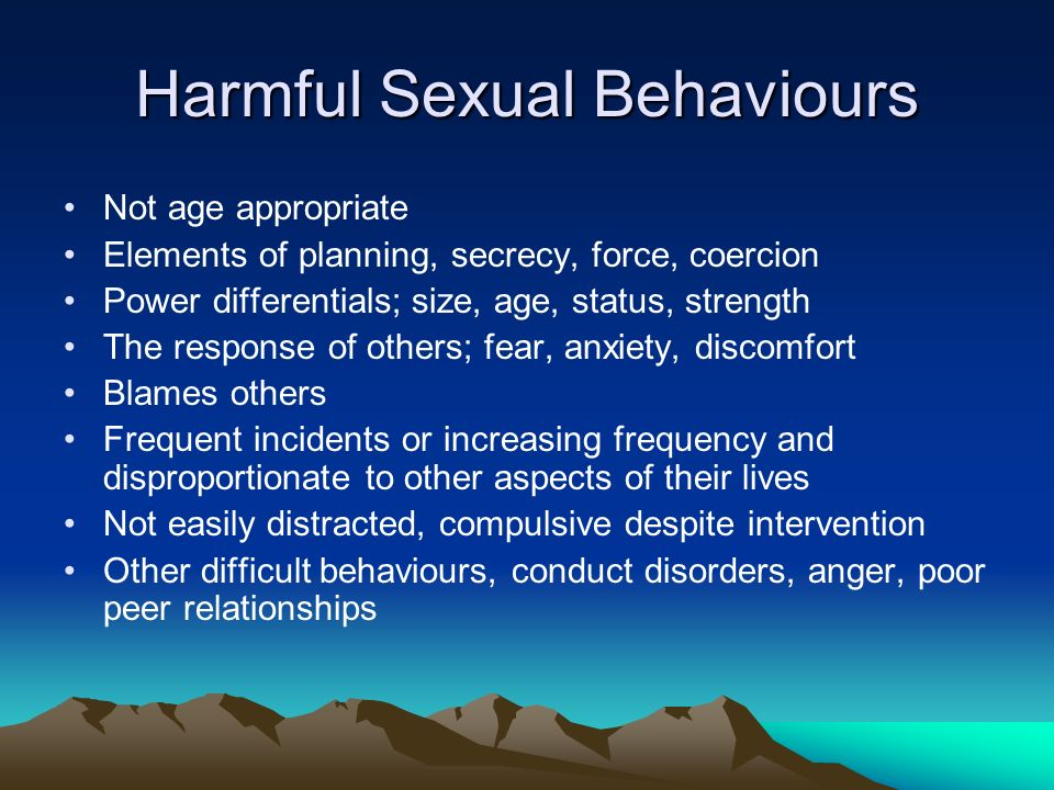 Harmful Sexual Behaviours