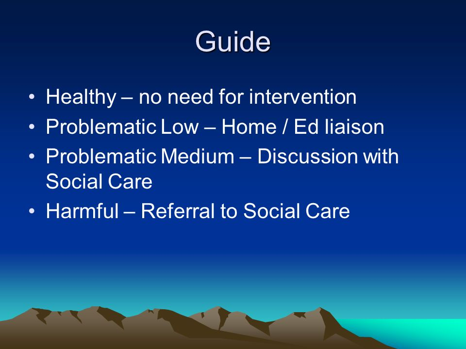 Guide Healthy – no need for intervention
