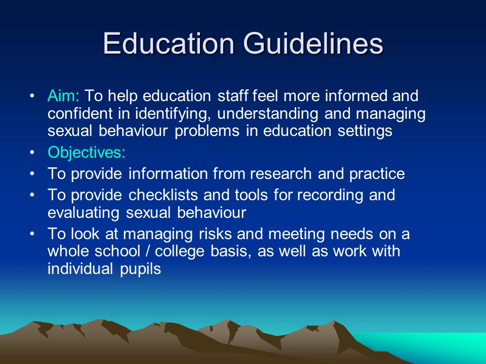 Education Guidelines