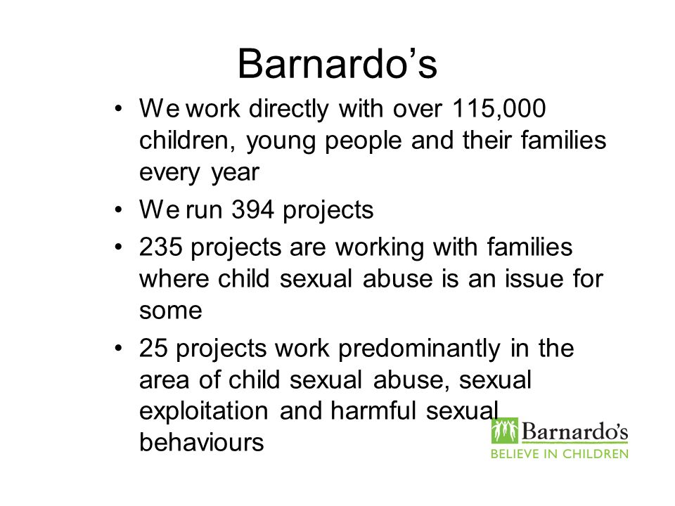 Barnardo's Core Presentation Slide No. 2