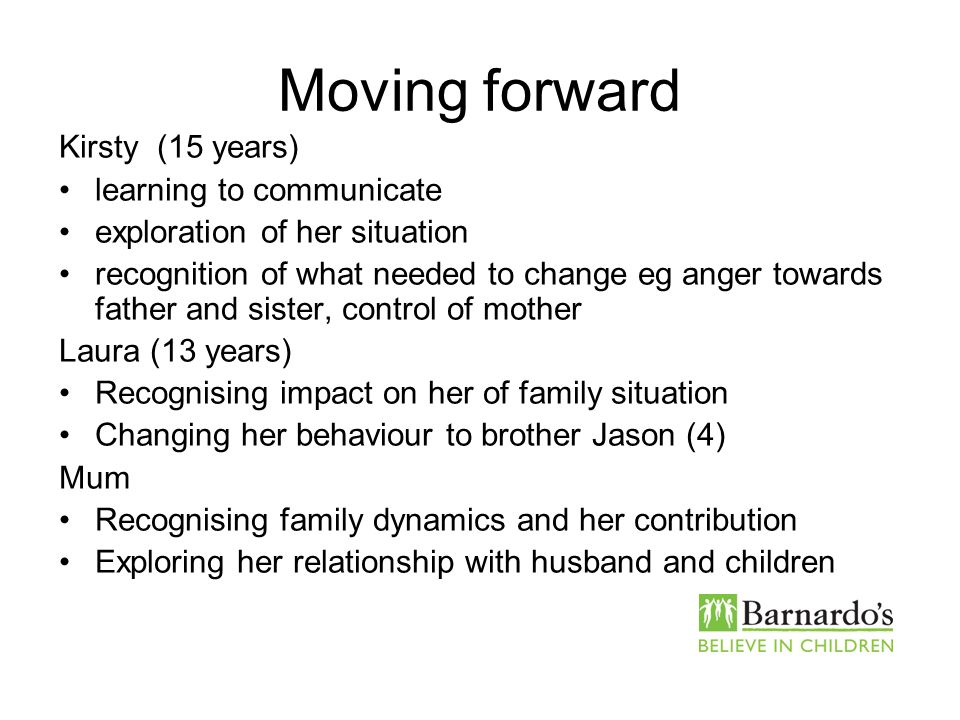 Moving forward Kirsty (15 years) learning to communicate
