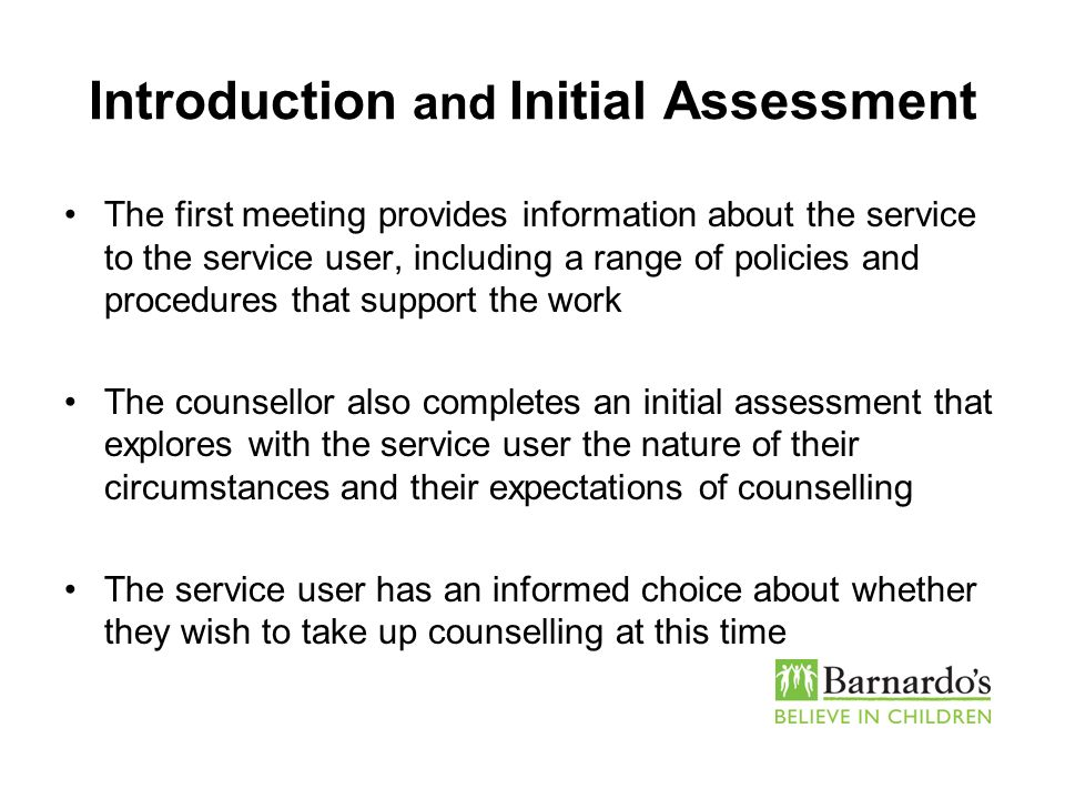 Introduction and Initial Assessment